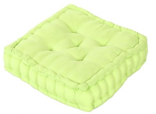 PLAIN GREEN COLOUR MICROFIBRE DINING / GARDEN CHAIR BOOSTER CUSHION SEAT PAD